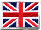 Union Jack British Flag United Kingdom Great Britain Applique Iron-on Patch S102 Handmade Design From Thailand