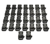 "Cosmos ® 3/4""(19mm) 30 PCS Black Side Release Whistle Buckles With Cosmos Fastening Strap"