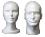 1 Female + 1 Male Styrofoam Head