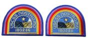 Set of 2 ALIEN Movie U.S.C.S.S. Nostromo Crew Shoulder Costume [BLUE] [10cm ] patches