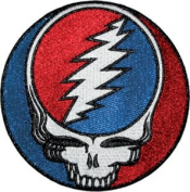 Grateful Dead Garcia Patch - 13cm Glitter Steal Your Face