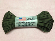 Olive Green Solid Colour 7 Strand 550 Paracord Made in USA 100ft Parachute Cord