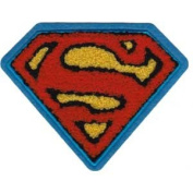 Dc Comics Iron on Patch - Superman Crest Chest Chenille Logo Applique