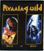Running Wild-Death or Glory Woven Patch