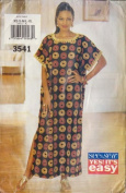 UNCUT & OOP SEE & SEW BUTTERICK 3541 MISSES CAFTAN SEEING PATTERN SIZES XS S M L XL