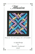 Illusion Quilt Pattern, Bargello Pieced from Yardage, 2 Size Options
