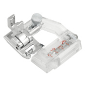 Sew Perfect Adjustable Bias Tape Binding Presser Foot for All Low Shank Snap-on Singer*, Brother, Babylock, Viking (Husky Series), Euro-Pro, Janome, Kenmore, White, Juki, Bernina (Bernette Series), New Home, Simplicity, Necchi, Elna and More!