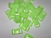 50 Count Glow in the Dark Small 1cm Side Release Paracord Buckles