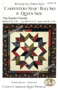 Carpenter's Star-Bali Sky Quilt Pattern, Fat Quarter Friendly, 3 Size Options