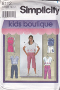 Girls Top And Capri Pants Or Shorts Simplicity Sewing Pattern 8112 (Size BB