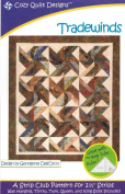 Tradewinds Quilt Pattern, Jelly Roll 6.4cm Strip Friendly, 5 Finished Size Options