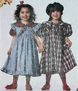 UNCUT/OOP McCALL'S CHILDREN'S/GIRLS' DRESS & PINAFORE SIZE
