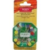 Flower Head Pin Fine Sharps Asst. Colours Size 32, 50 Ct