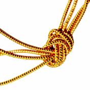 Venus Ribbon Rayon Metallic Elastic Cord, Gold
