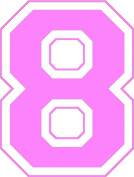 Iron-On 20cm Jersey Number Pack w/15 Numbers in Pink