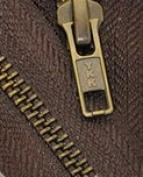"120cm Jacket Zipper YKK #13cm 2-way"" Antique Brass ~ Separating~ YKK Colour 570 Brown"