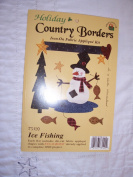 Ice Fishing Iron-on Fabric Applique Kit