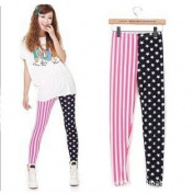 ECOSCO Women Patriot US Star Country Flag Legging Tregging Tight