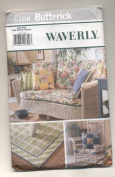 Butterick Waverly Sofa and Chair Cushion Cover, Rug and Pillow Cover Sewing Pattern 6108