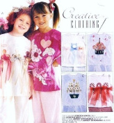 MCCALLS 8470 Girls Pants, T-shirt & Embellishments Sewing Pattern