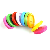 YARUIE 4 Holes Assorted Colour Round Wooden Sewing Button Scrapbooking Bulk Multicolor