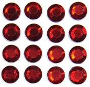Mark Richards Elements Crystal Stickers 3809A Self-Adhesive Individual 16-Piece Round Rhinestones Crystal Stickers, 10mm, Red