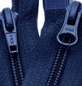 "90cm Jacket Zipper - YKK#20cm 2-way"" Nylon Coil Zippers - Separating Pennant 919 - Lt. Navy"