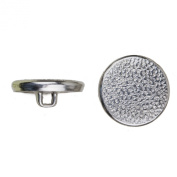 C & C Metal Products 5048 Beaded Metal Button, Size 30 Ligne, Nickel, 36-Pack