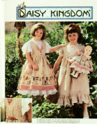 Simplicity 7029 Size AA 3,4,5,6 Child's Pinafore, Dress Plus Doll Clothes Pattern for 46cm Doll.