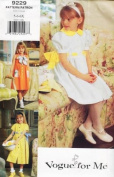 VOGUE Sewing Pattern 9229 ~ 3 LITTLE GIRL DRESSES ~ SIZE 5, 6, 6x ~ VOGUE FOR ME SEWING PATTERN