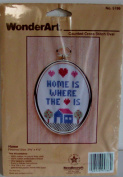 Home is Where the Heart Is Counted Cross Stitch Complete Kit by WonderArt