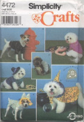 Simplicity Crafts Pattern #4472 - Coats and Costumes for Small and Medium Size Dogs
