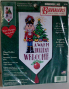 A Warm Holiday Welcome Banner Counted Cross Stitch Complete Kit by Dimensions