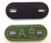 Matrix PVC Oval Blood Type Patch - A POS / Green
