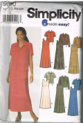 Simplicity 9890 Dress and Jacket Plus Size