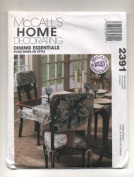 Simplicity Home Decorating Dining Essentials Tablecloth, Chair Cover, Napkins, Placemat and Table Runner Sewing Pattern # 2391