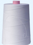 American & Efird, 100% Cotton Sewing Thread 12,000 Yard Cone- White- Made in USA