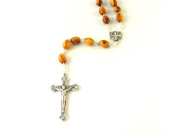 Olive Wood Rosary with the Jerusalem Cross Centrepiece