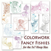 Colorwork Fancy Fishies Embroidery Machine Aquatic Fish Designs on CD - Multiformat