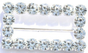 Czech Crystal Fashion Buckle ~ Style 3250 Rectangle Shape ~ Large Round Stones