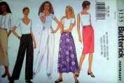 Butterick 3133 UNCUT Misses/Misses Petite Skirt and Pant Sizes 14, 16, 18 VERY EASY
