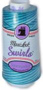 Maxi Lock Swirls Blue Water Ice Serger Thread 53-M57
