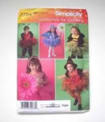 Simplicity 2794 Costumes for Toddlers...Ladybug, Bumble Bee, Witch, Flower Fairies Size A
