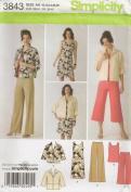 Simplicity 3843, Misses' Wardrobe, Size AA(10-18), OOP, 2007