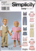 Simplicity 5697 Easy to Sew Childrens Wardrobe