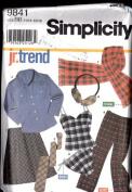 Simplicity 9841 - Shirt, Pants, Camisole, Panties, Bias Skirt and Accessories