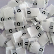 Size 0 Clothing Label Tabs