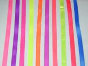 Solid Colour Satin Ribbon Asst. #4 - 10 Colours 1cm X 5 Yard Each Total 50 Yds Per Package