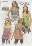 Vogue V8250, Misses' Tops, Size C(10-14), OOP