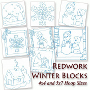 Winter Blocks Colorwork Machine Embroidery Designs on CD
